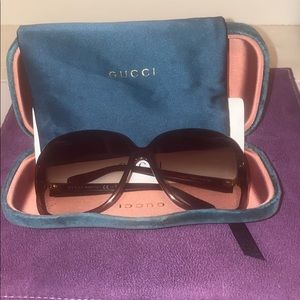 Gucci butterfly sunglasses radiant brown